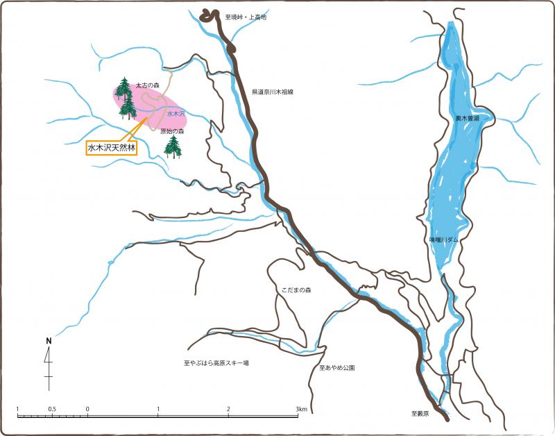 水木沢郷土の森地図