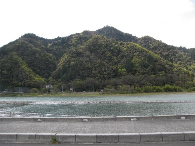 金華山(長良川右岸より遠望)