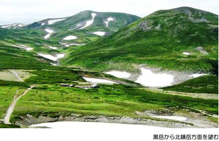 黒岳から北鎮岳方面を望む