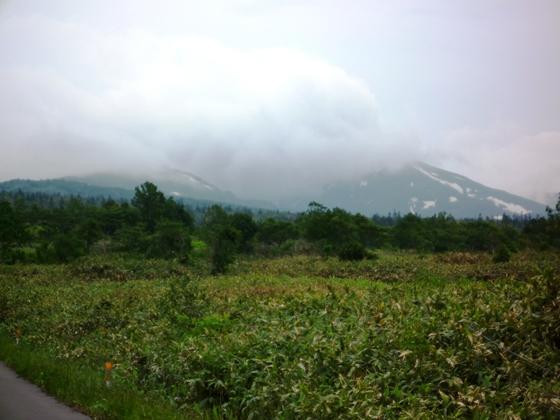 雲に覆われた暑寒別岳