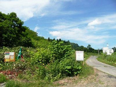 翁居岳、樽真布林道に向かう道中