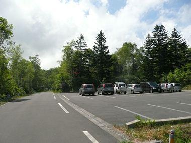 箸別ル-ト駐車場の様子
