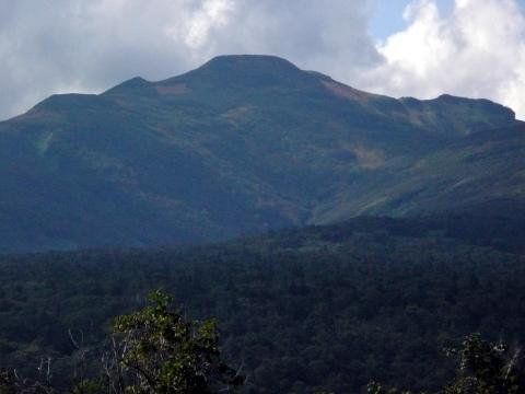 箸別小屋手前付近より遠望した暑寒別岳は、この2日間で山頂から中腹にかけて紅葉が進んでいるようです。