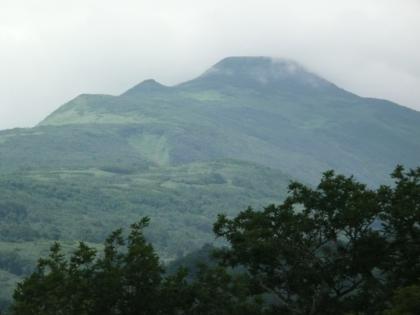本峰が雲に覆われていく様子1