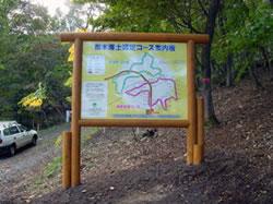 スタート地点の看板の写真