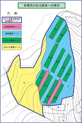 モデル事業地位置図