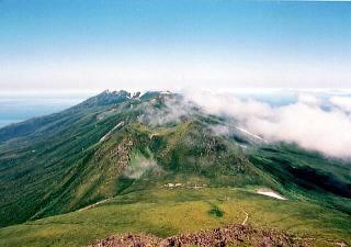 知床の山の写真