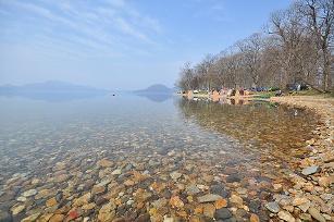 仲洞爺キャンプ場の風景