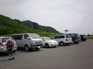 オロフレ山登山口付近の駐車場