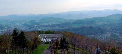 藻岩山山頂からの風景写真