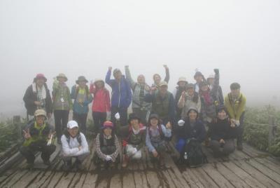 羅臼湖展望台での記念撮影