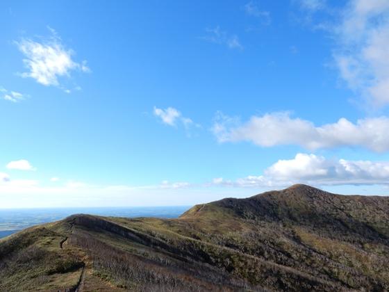 西別岳へとつづく稜線