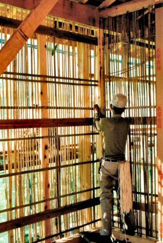 竹の伝統的な用途:壁下地(小舞竹編み)