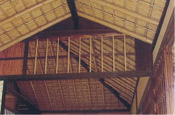 竹の伝統的な用途:舟底天井