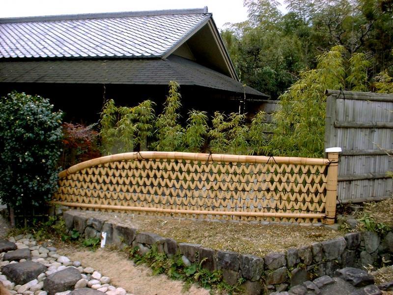 竹の伝統的な用途:光悦寺垣
