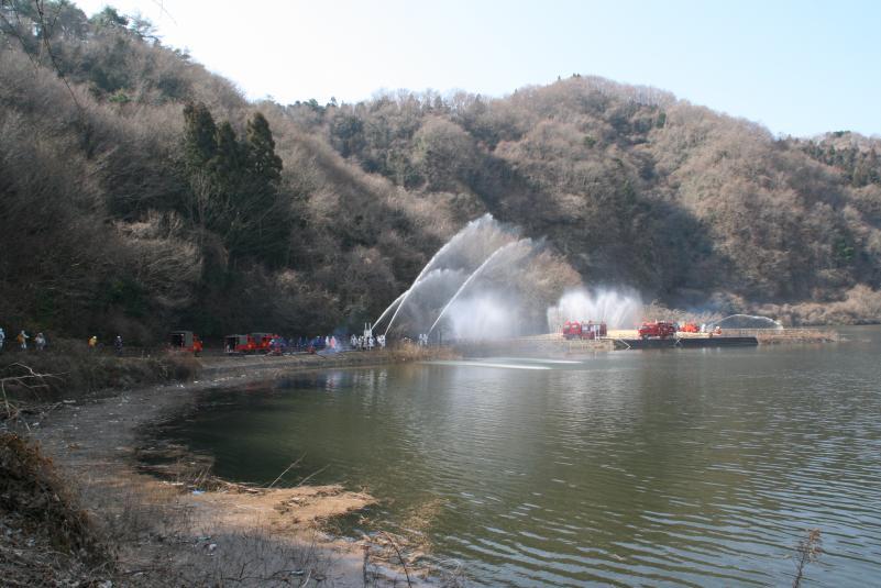 林野火災消防演習の様子