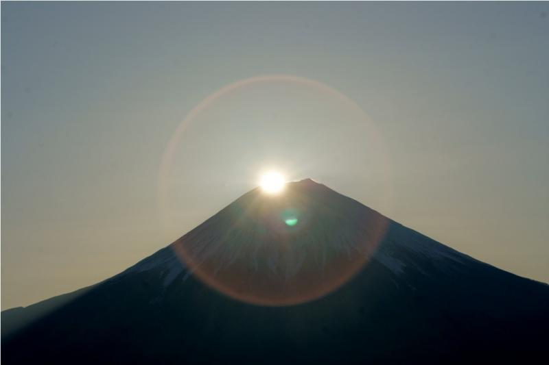 長者ヶ岳から望むダイヤモンド富士