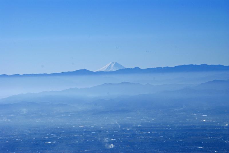 赤城山から富士山を望む