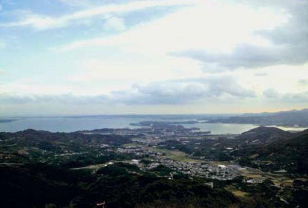 富幕山から望む浜名湖