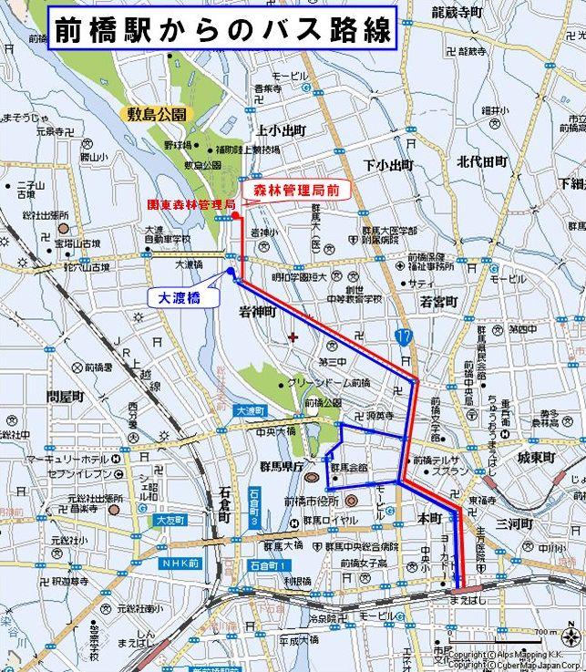 前橋駅からのバス路線