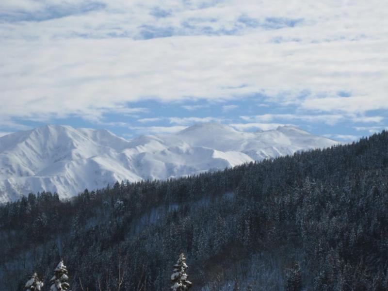 厳冬期の白山