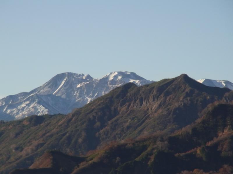 初冠雪の白山
