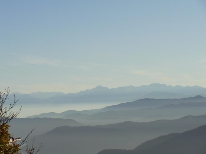 北アルプスの山々1(赤摩木古山から撮影)