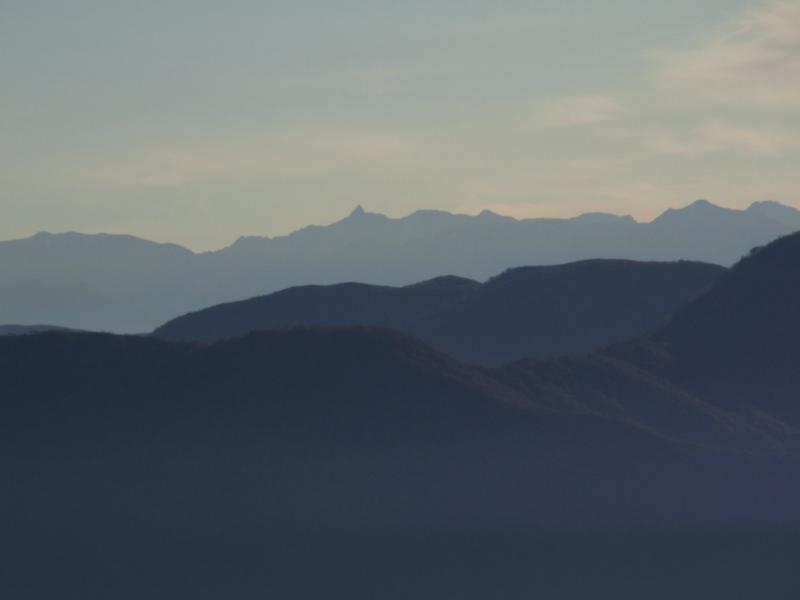 北アルプスの山々2(赤摩木古山から撮影)