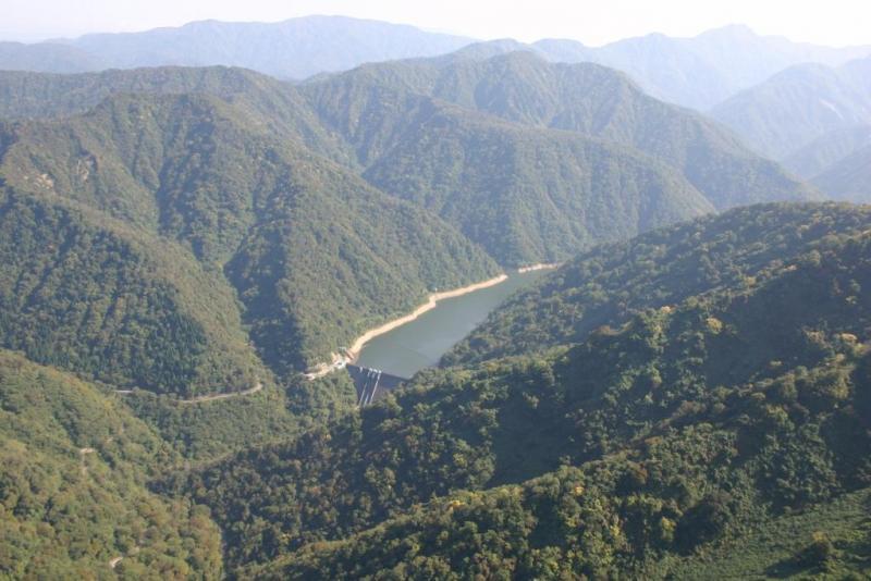 犀川ダムと犀川国有林2