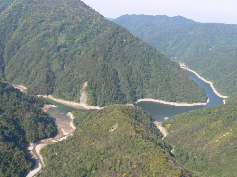 犀川ダムと犀川国有林3