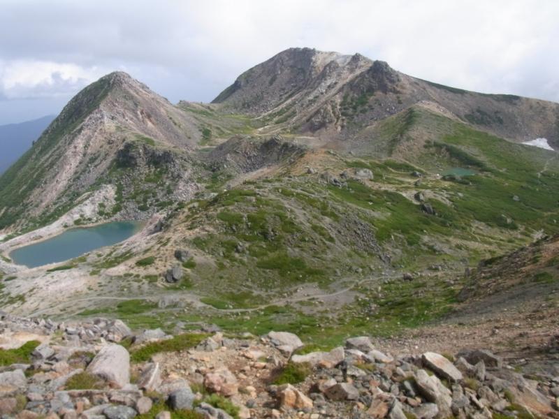 白山の火山景観
