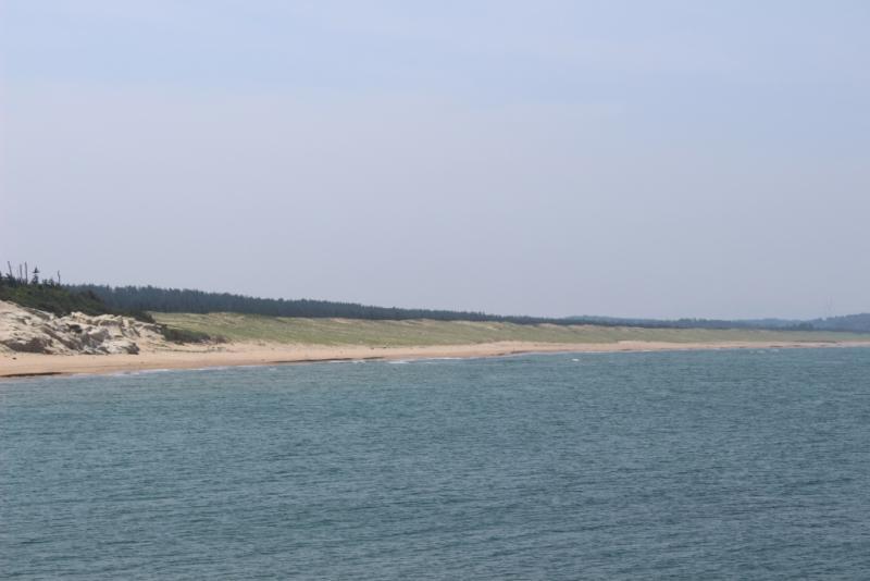 加賀海岸の遠景