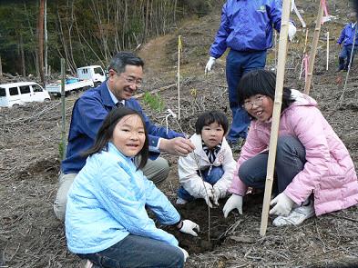 植樹祭(通ヶ谷山)