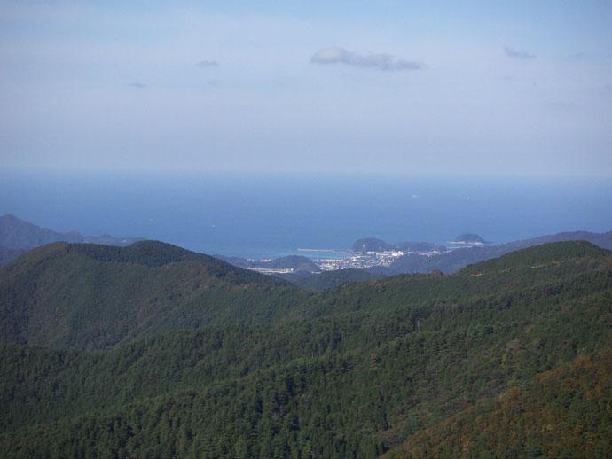 三川山奥国有林山頂から日本海