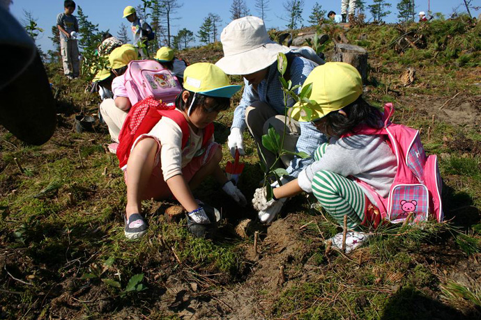 植樹祭にて 加賀海岸国有林