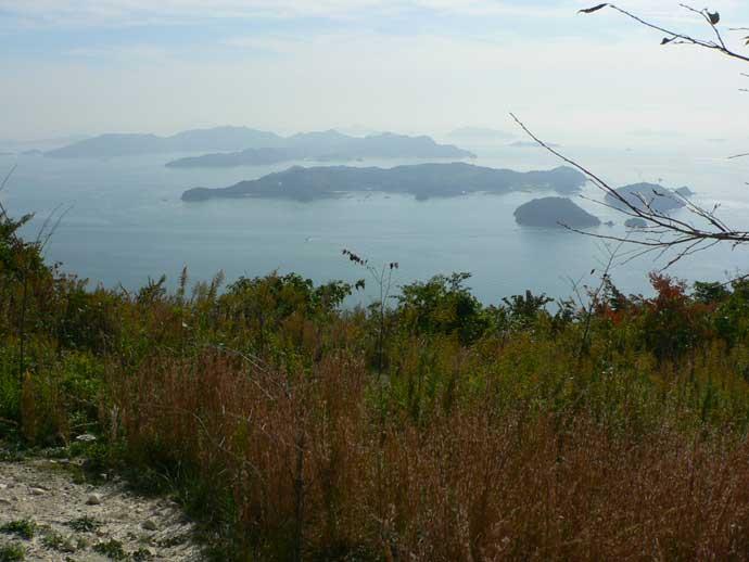 笠岡十名山「栂ノ丸山」から瀬戸内海を望む