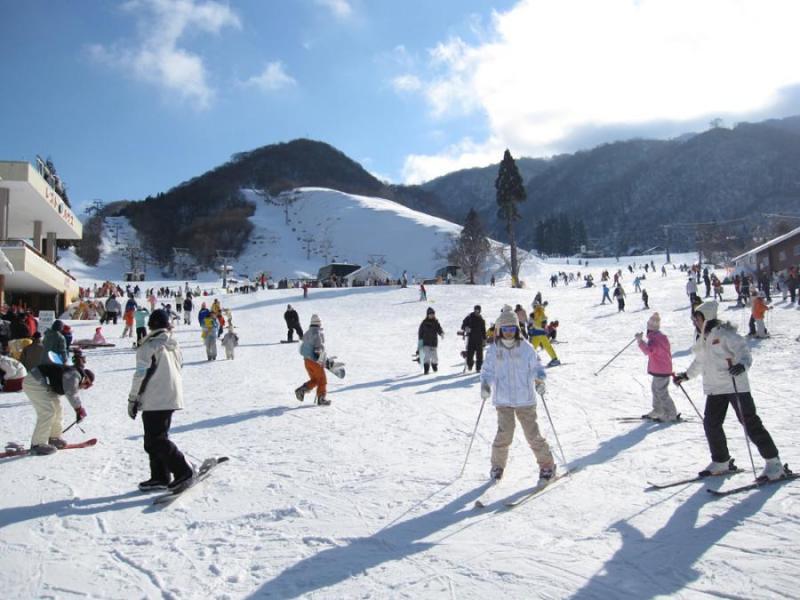 奥伊吹国有林内の奥伊吹スキー場