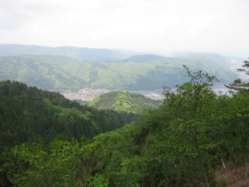 鷲峰山国有林山頂 国有林からの遠望