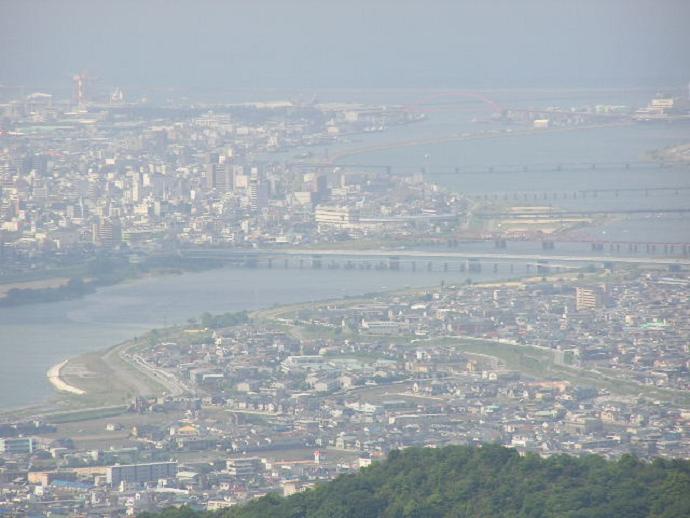 紀泉高原国有林からの眺望