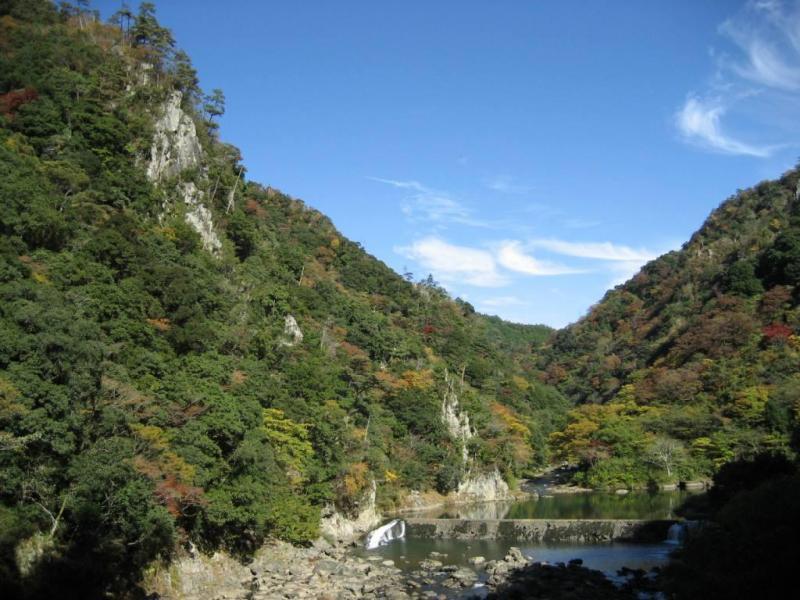 長門峡と紅葉