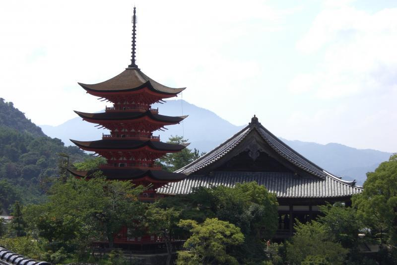 豊国神社と五重塔【宮島】