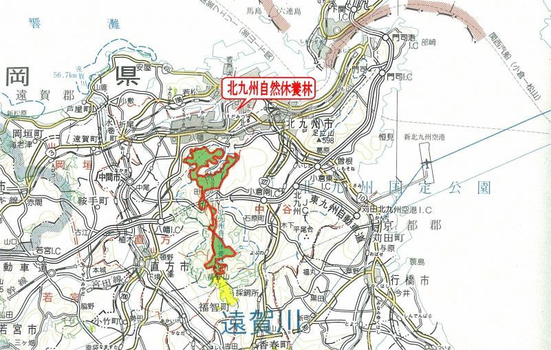 図面:北九州自然休養林