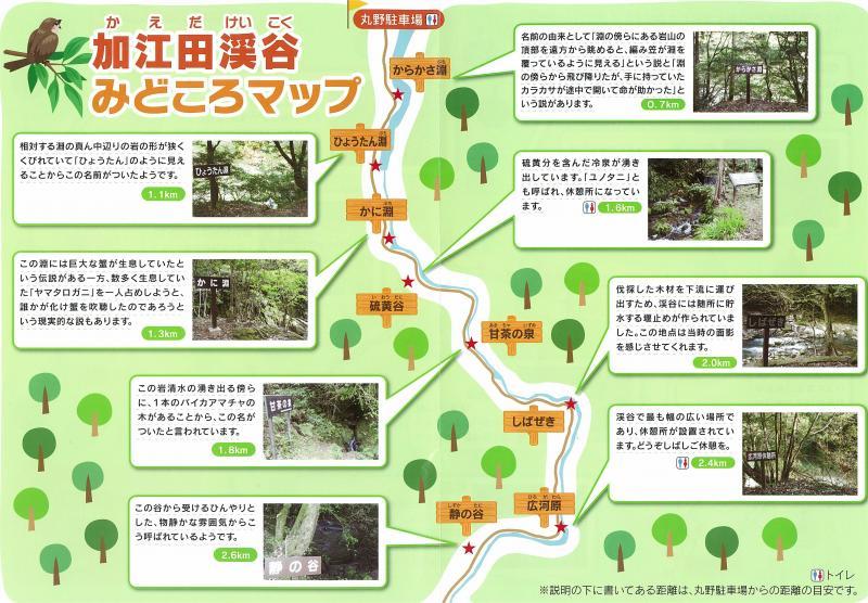 宮崎自然休養林ー施設パンフの弐