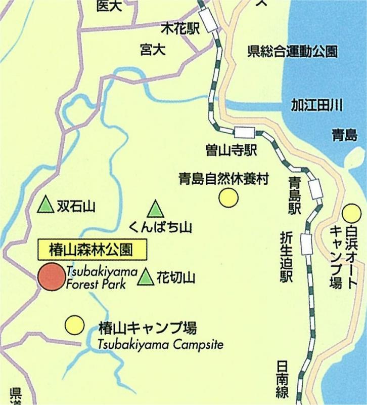 宮崎自然休養林ー椿公園地図