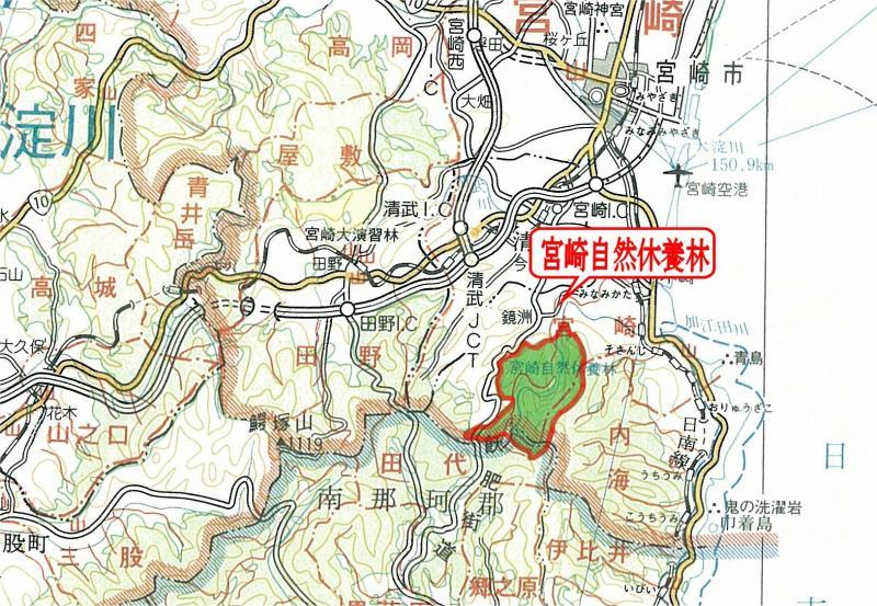 宮崎自然休養林ー管内図面