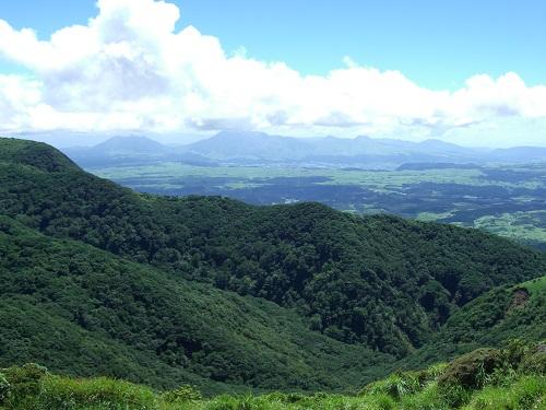 沓掛山から阿蘇方面の展望