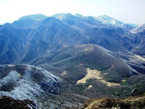 大船山山頂からくじゅう連山の展望