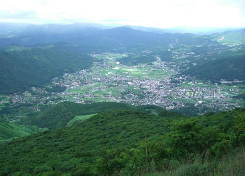 由布鶴見岳自然休養林ー由布岳から眺望