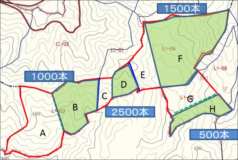 低密度区画図